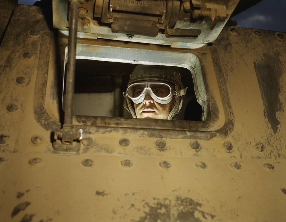 Tank driver, Ft. Knox, Ky, 1942