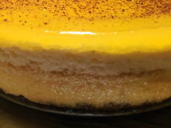 Cheese cake with mango jelly
