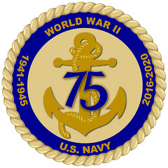 The official logo for the Navy's commemoration of 75th anniversary of World War II. (U.S. Navy/Annalisa Underwood)