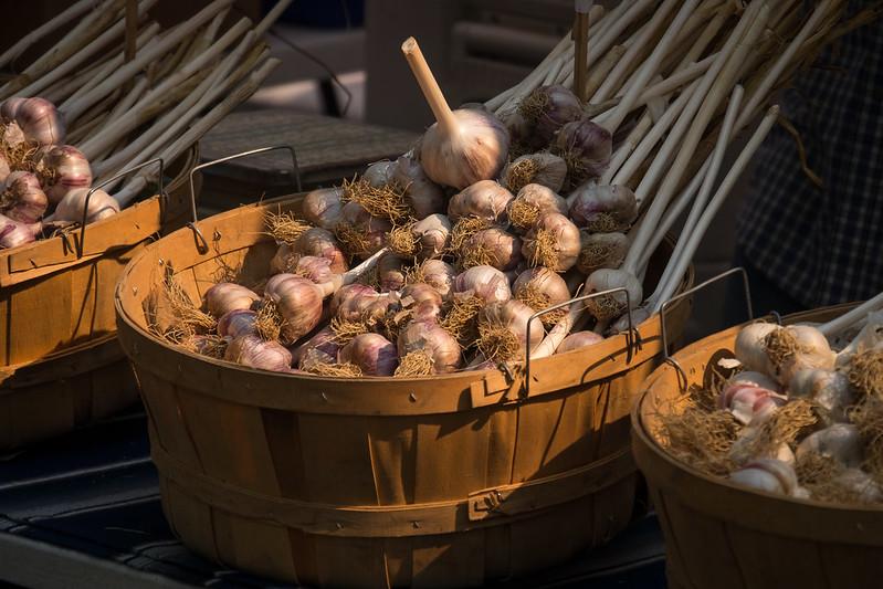 Baskets of Garlic
