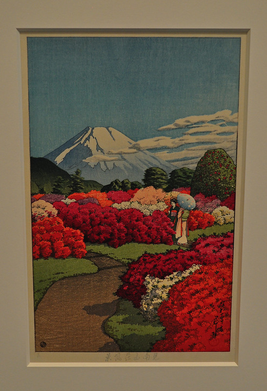 Two Beauties at Azalea Garden, Kawase Hasui