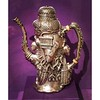 """Covered with skulls, severed hands, and serpents, this highly unusual Tiffany and Company coffee service was commissioned by publisher William Randolph Hearst in 1897. The form of the coffee pot is adapted from a sculpture of the """"serpent-skirted"""" Aztec g"""