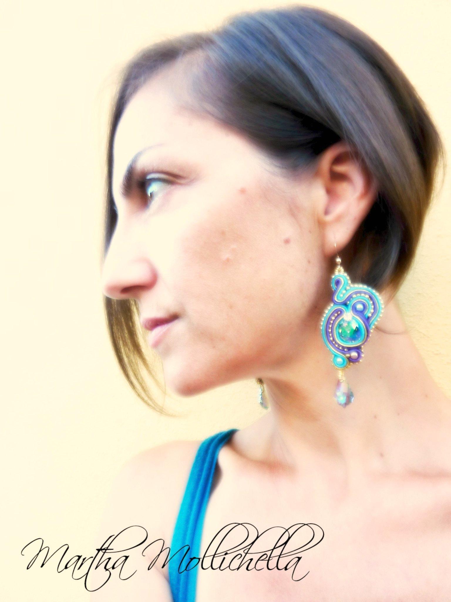 Orecchini Soutache Martha Mollichella Handmade Jewelry