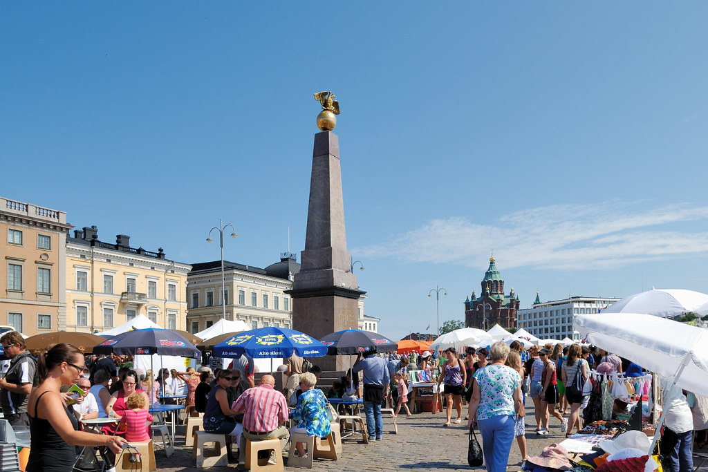 Helsinki Marktplatz Kaiserin-Säule