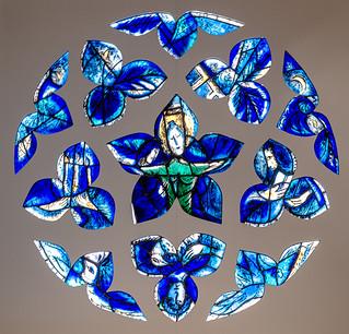 La rose bleue ou le christ - 1964 - Marc Chagall / Atelier Simon Marq - Cathédrale Saint-Etienne de Metz