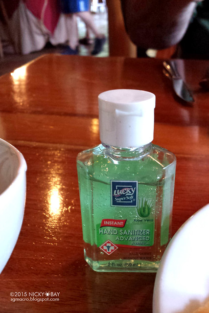 Sanitize your hands!