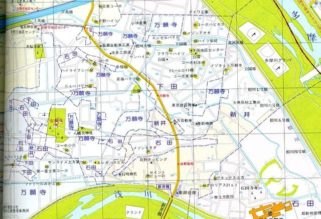 多摩モノレール万願寺駅付近