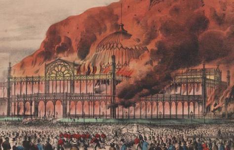 Crystal Palace burning