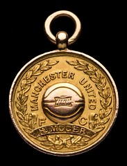 1908 Manchester United Harry Moger soccer gold medal
