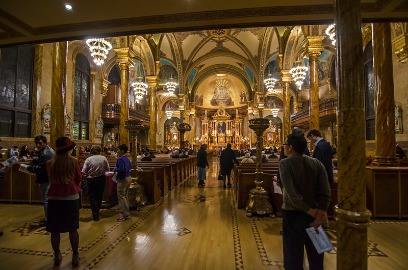 Entering St. John Cantius