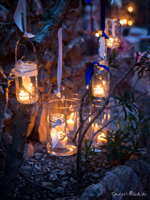 Lanterns guiding the way