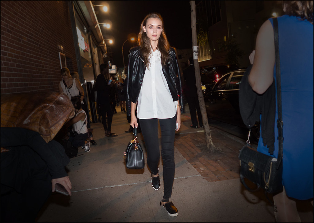 Walker on West 33rd St after Narciso Rodriguez NYFW 9-2015