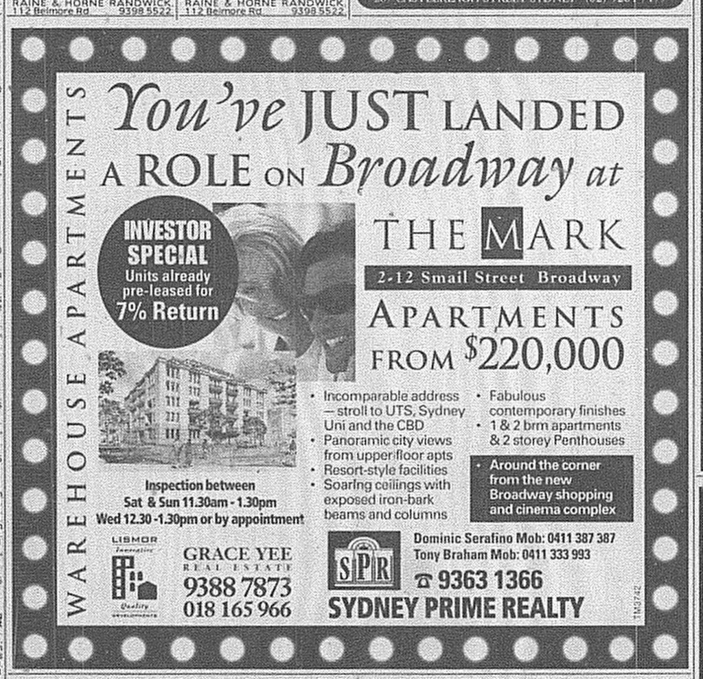 The Mark Ad SMH May 2 1998 22RE
