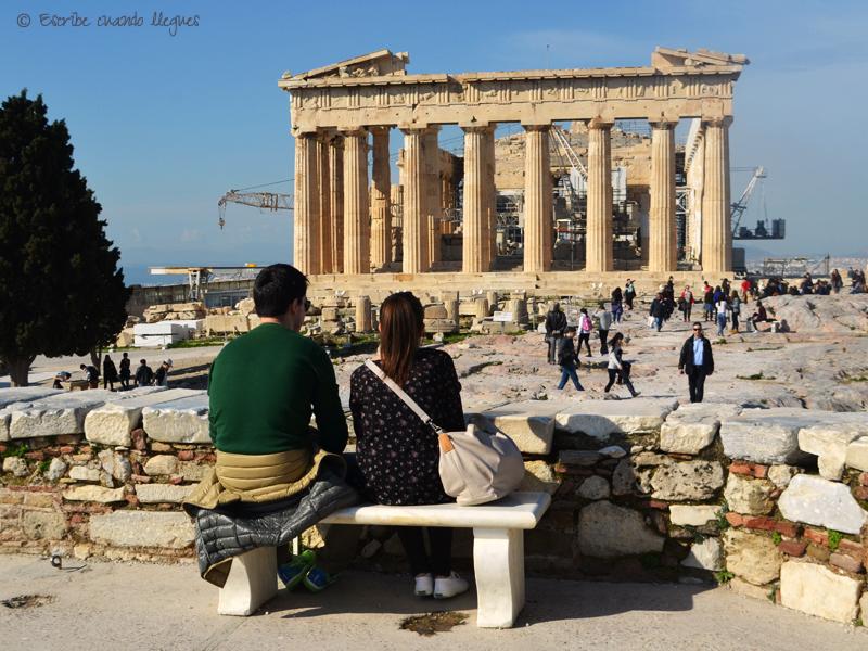 Vista de una de las fachadas del Partenón