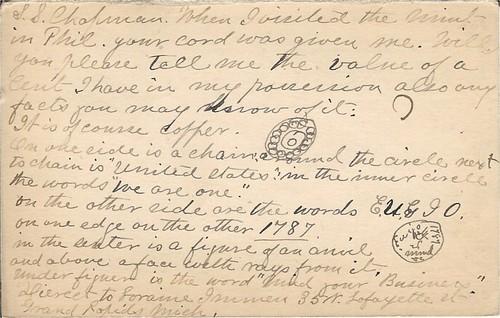 IMMEN, Lorraine postcard to Chapmans