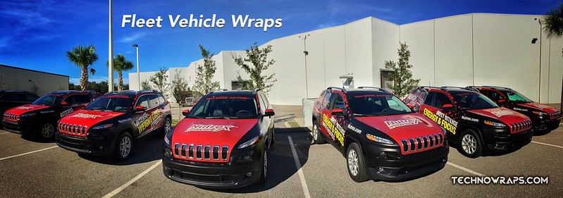 Fleet truck graphics wraps by TechnoWraps.com