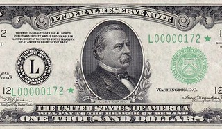 thousand dollar bill