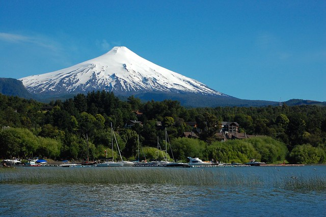 Volcán Villarica, as seen from Pucón, Chile