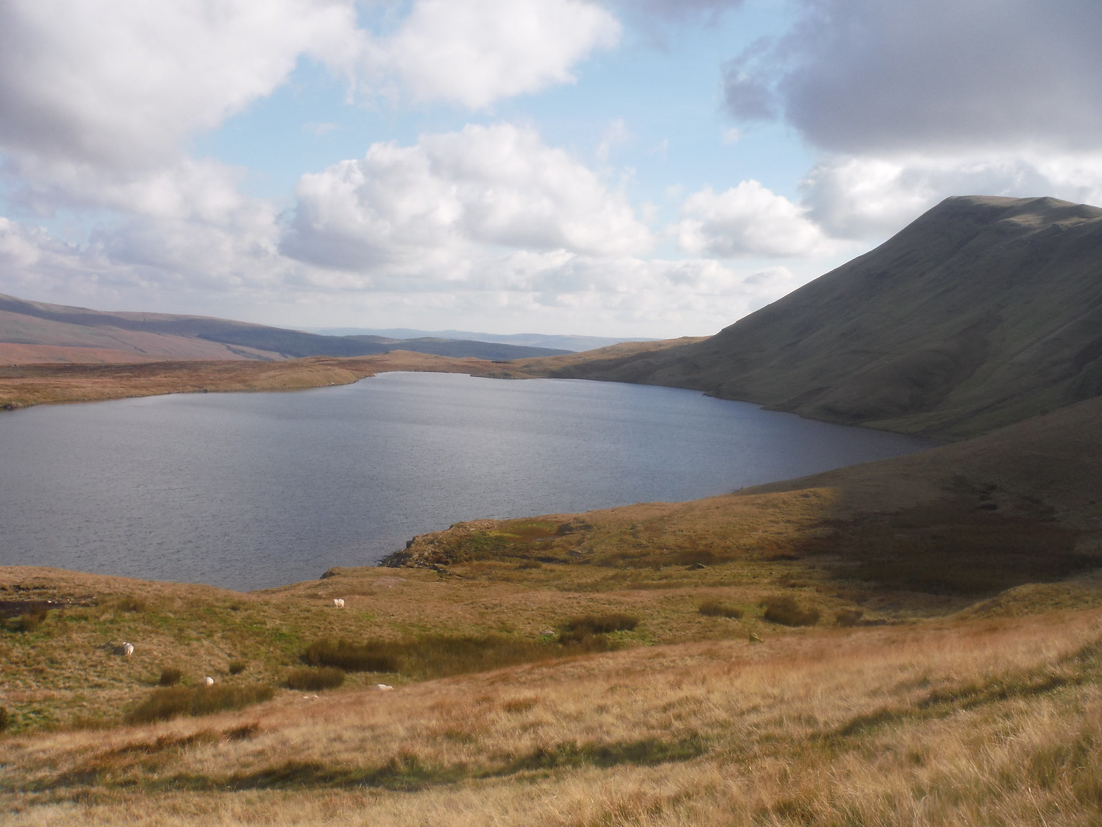 Llyn y Fan Fawr, at bottom of Fan Brycheiniog SWC Walk 279 The Black Mountain - Y Mynydd Du (Glyntawe Circular)