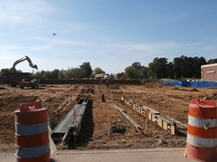 Wasp-eye view of the new parking area quickly taking shape