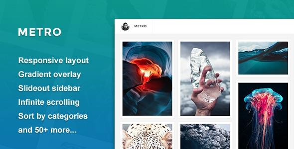 Metro - Responsive Grid Tumblr Theme
