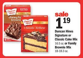 Duncan Hines Products Coupon