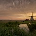Windmills in Beemster polder by Toon E