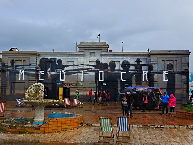 mediocre at dismaland, dismaland, banksy, weston super mare