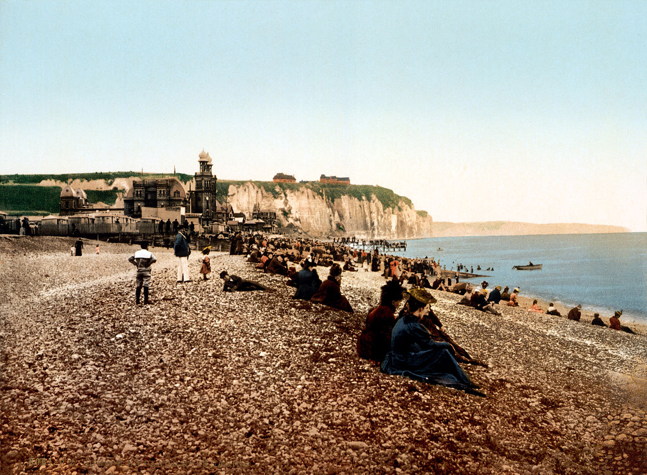 The beach and the casino, Dieppe, France