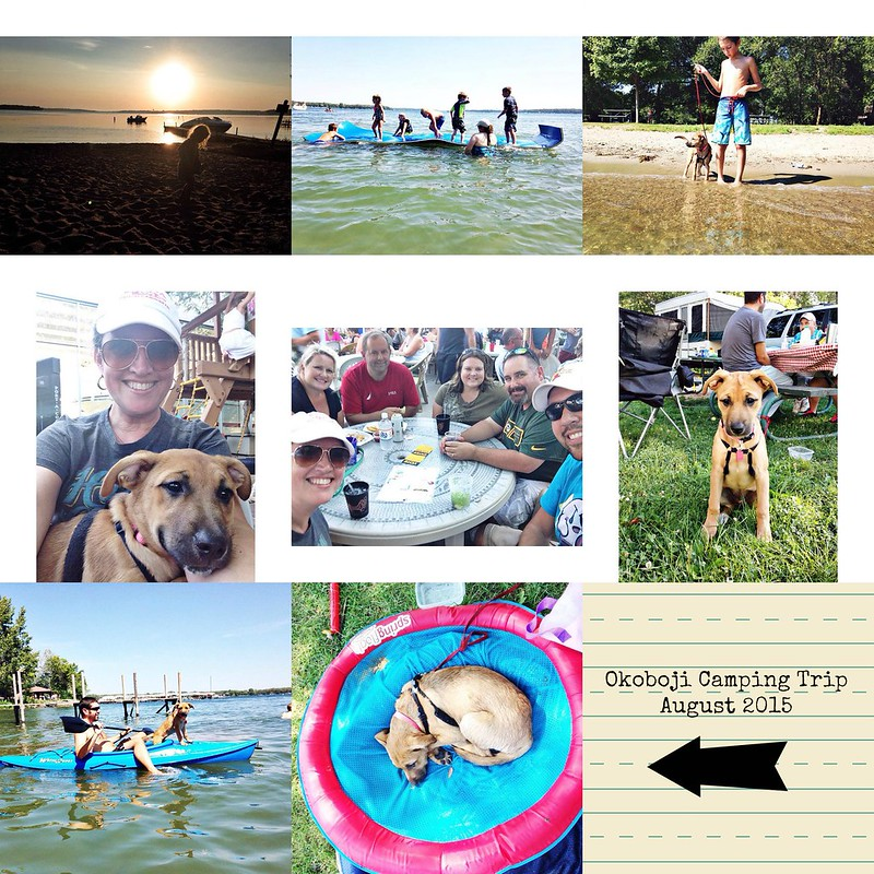 Okoboji camping August 2015 PicMonkey Collage