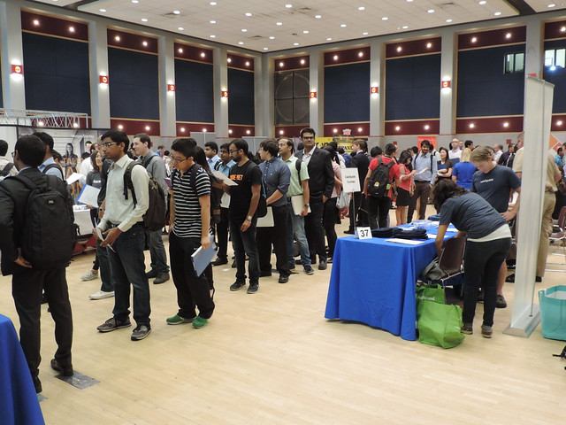 Group Shot of Students at a Career Fair
