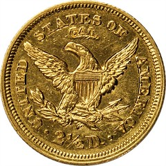 1848 Liberty Quarter Eagle. CAL. reverse