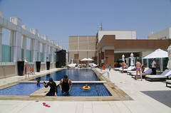 2015 DBSH0274 Rooftop Pool area at the Sheraton Hotel in Dubai