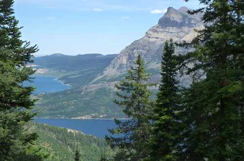 View back to Waterton Lakes