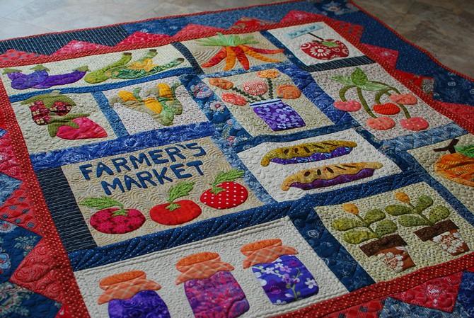 pat sloan Farmer market block 3 sew along