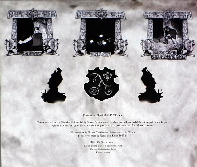 "ALTAR OF PERVERSION ADGNOSCO VETERIS VESTIGIA FLAMMAE 10"" MLP VINYL"