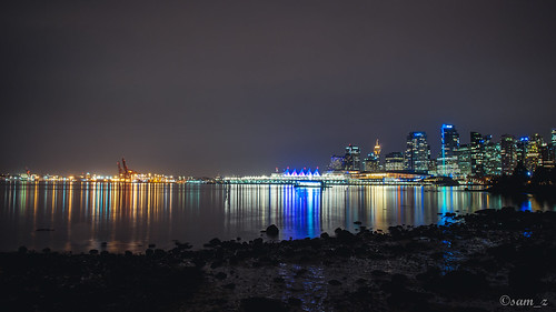 Night View from Stanley Park