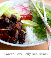 Korean Pork Belly Bun Bowls