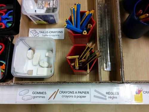 Etiquettes matériel de la classe
