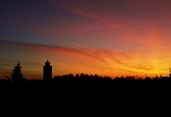 La mosquée d'Evry au coucher de soleil (lumix cm1)