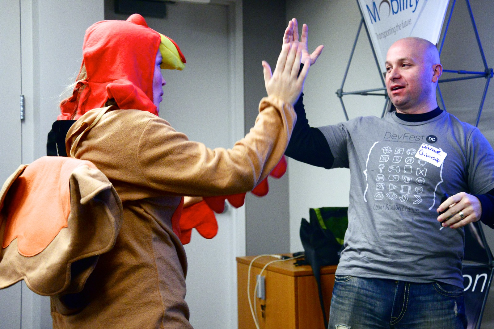 Photo Friday: Hug Timer continuing its world embrace, this time with turkey