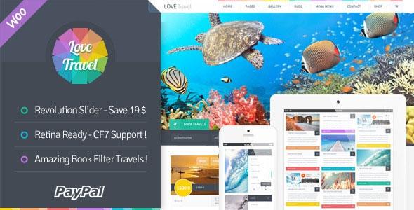 Themeforest Love Travel v1.0 - Creative Travel Agency WordPress