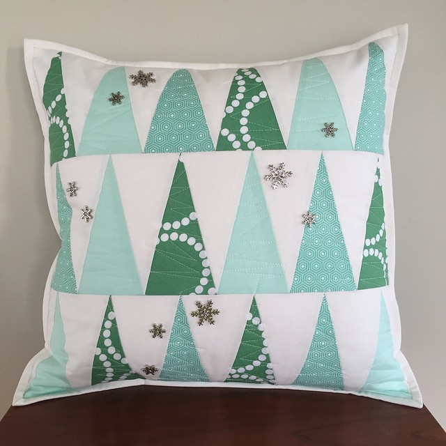 Winter Forrest Throw Pillow