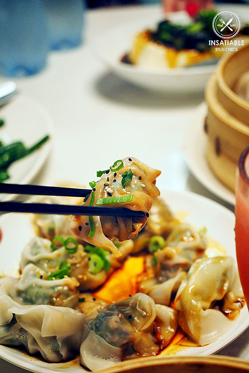Wonton in Red Chili Oil Sauce, Taste of Shanghai, World Square. Sydney Food Blog Review