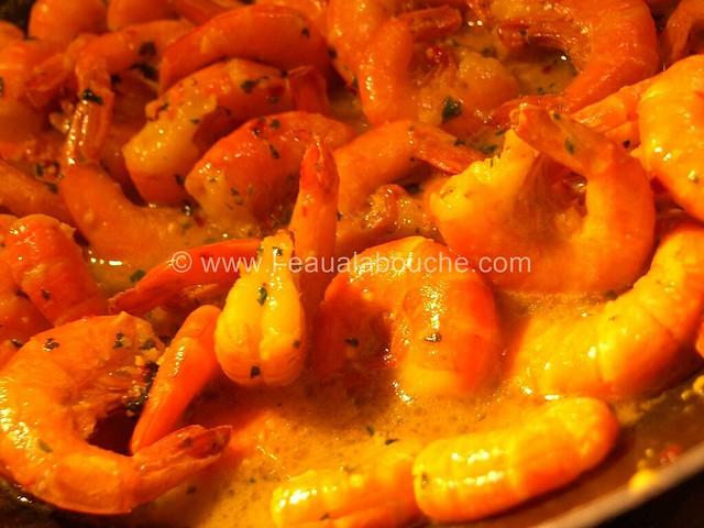 Crevettes au Safran Flambées au Rhum © Ana Luthi Tous droits réservés 003