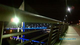 Ada Bridge, Belgrade, Serbia, August 2014; Most na Adi, Beograd, Srbija, avgust 2014 godine