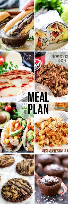 Week 26. Collaborative weekly meal planning. 9 bloggers. 6 dinner ideas, one-weekend breakfast plus 2 desserts every single week equals one heck of a delicious menu!