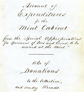 Mint Cabinet Accession Book title_page