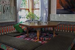 Boulder Dushanbe Teahouse (corner table)