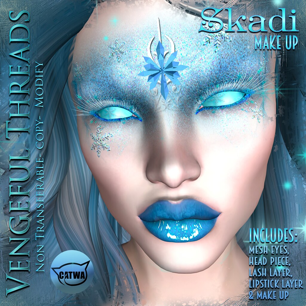 Vengeful Threads - Skadi Face Makeup Bundle_Ad - SecondLifeHub.com